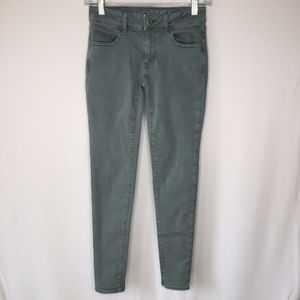 American Eagle  0 Green Gray Colored Skinny jeans